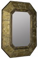 Tenoch Natural Tree Bark with Gold Accents Unique Mirror