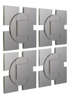 Tupan Layered Frameless Square Mirrors Set Of 4