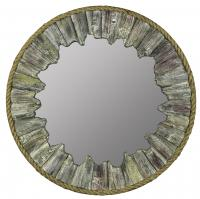 Tefo Natural Driftwood and Rope Round Mirror