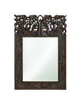 Oakvale Rectangular Antique French Brown Mirror