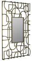 Kami Antique Gold Metal Rectangular Mirror