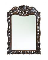 Howard Elliott St Augustine Rectangular Antique French Brown Mirror
