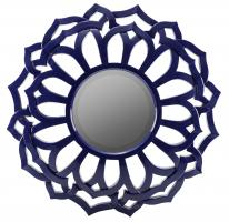 Joanne Lacquered Cobalt Unique Mirror