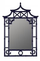 Pinlo Lacquered Cobalt Arched Mirror