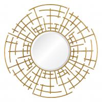 Odair Aged Gold Round Mirror