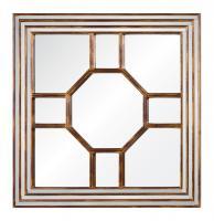 Arabella Antiqued Gold Leaf with Burgundy Undertones Square Mirror