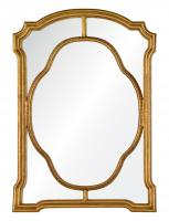 Cato Antiqued Gold Leaf Unique Mirror