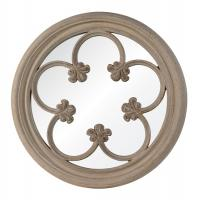 Ula Distressed Parchment Round Mirror