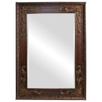 Lila Rectangular Antique Gold Leaf with White Wash Accents Mirror