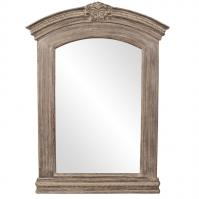 Xavier Neo classic Aged Brown with Grey Washed Accents Arched Mirror