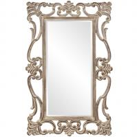 Whittington Tuscan Brown with Antiqued Scrolled Accents Rectangular Mirror