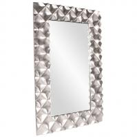 Krystal Modern Bright Silver Rectangular Mirror