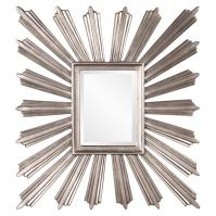 Jericho Textured Silver Leaf Square Mirror
