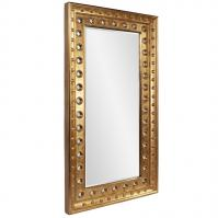 Calypso Bright Gold Leaf Rectangular Mirror