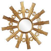 Calypso Gold Round Starburst Mirror