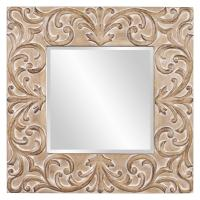 Larson Antique Brown Square Mirror