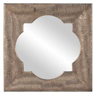 Raymus Hammered Silver Leaf Mirror