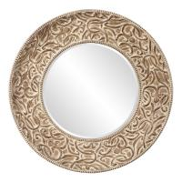 Larson Round Whitewashed Mirror