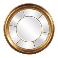 Sol Round Bright Gold Mirror