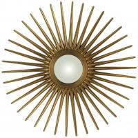 Heather Antique Gold Sunburst Mirror