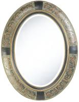 Sawyer Oval Aged Brown Mirror