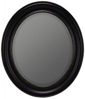 Townsend Black with Gold Highlights Oval Mirror
