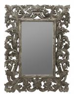 Tara Gold Crackle Rectangular Mirror