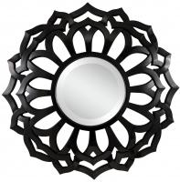 Covington Glossy Black Unique Mirror