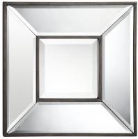 Olivia Aged Bronze Square Mirror