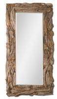 Teak Root Natural Rectangular Natural Teak Mirror