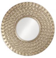 Symphony Round Silver Leaf Mirror