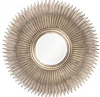 Howard Elliott Singapore Round Silver Leaf Mirror