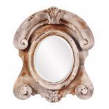 Janet Faux Stone Round Mirror