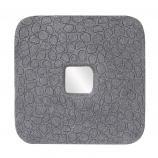 Small Khari Textured Stone Square Mirror