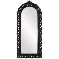 Orleans Glossy Black Arched Mirror