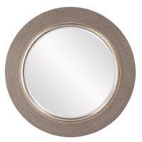 Yukon Champagne Silver Round Mirror