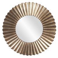 Olivia Silver Leaf Round Mirror