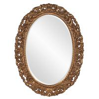 Barcelona Gold Leaf Oval Mirror