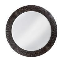 Small Bergman Black Round Mirror