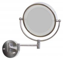 LED Round Chrome Mirror