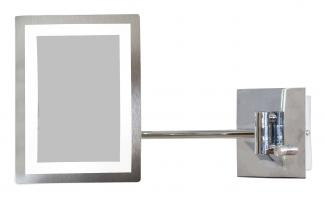 LED Rectangular Chrome Mirror