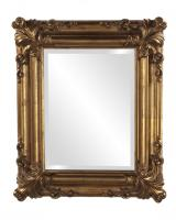 Edwin Rectangular Rustic Antique Gold Mirror