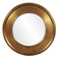 Valor Bright Gold Leaf Round Mirror