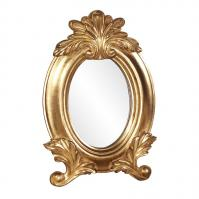Countess Bright Gold Leaf Oval Mirror