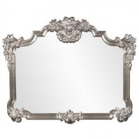 Brighton Bright Silver Leaf Ornate Buffet Mirror