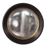 Rex Espresso Brown with Mottled Gold Leaf Inset Round Mirror