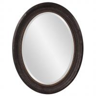 Nero Rustic Black with Gold Highlights Oval Mirror