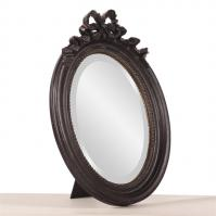 Ivanhoe Rustic Black with Gold Highlights Oval Mirror