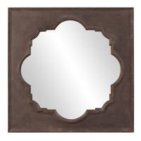 Raja Rust Brown Square Mirror