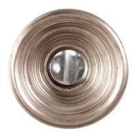 Small Silas Silver Leaf Round Mirror